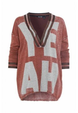 Пуловер с топом